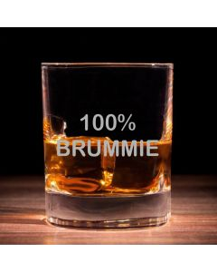 '100% Brummie' Traditional Whisky Glass