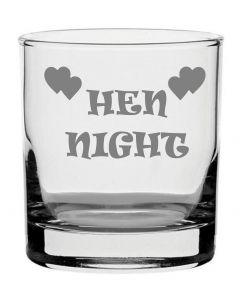 Traditional Whisky Glass With Hen Night Design