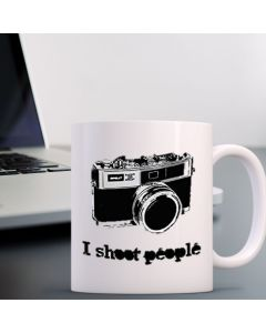 11oz Ceramic Mug With (Camera) I Shoot People Design