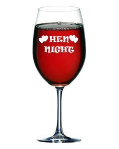 750ml Wine Glass (Holds a Whole Bottle of Wine) With Hen Night Design
