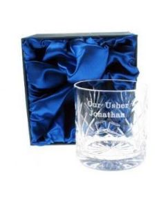 Usher Whisky Glass, Usher Gifts, Gifts for Ushers, Personalised Wedding Gifts