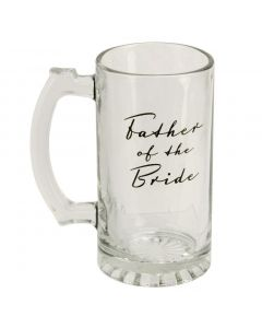 Glass Tankard with Father of the Bride Design