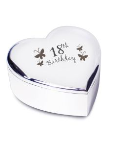 18th Birthday Heart Shaped Trinket Box