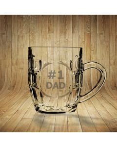 No.1 Dad Dimpled Beer Glass