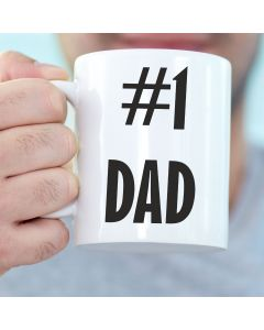 11oz Ceramic Mug With #1 Dad Design