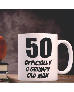 50 Officially A Grumpy Old Man - Funny Novelty 50th Birthday Gift Mug