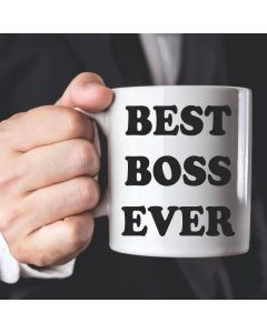 11oz Ceramic Mug With Best Boss Ever Design