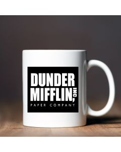 11oz Ceramic Mug With Dunder Mifflin Design