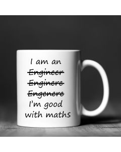 11oz Ceramic Mug With I'm Good at Math Design