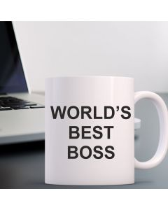 Worlds Best Boss Mug - Custom 11oz Coffee Cups