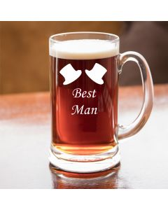 Half Pint Glass Tankard With Best Man Design