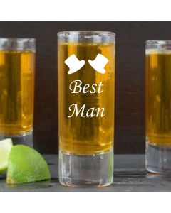 2oz Shot Glass With Best Man Design