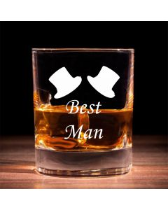 Traditional Whisky Glass With Best Man Design