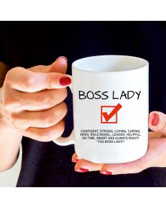 11oz Ceramic Mug With Boss Lady Design