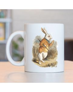 Cannon Collectables British Library Alice in Wonderland Ceramic Mug with White Rabbit Colour Design