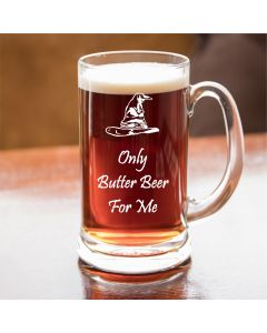 Only Butter Beer For Me Harry Potter Inspired Half Pint Glass Tankard