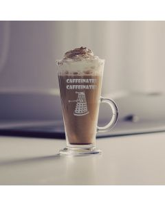 Doctor Who Inspired Caffinate Latte Glass