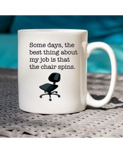 11oz Ceramic Mug With Chair Design