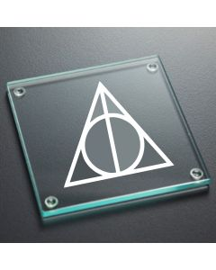 Deathly Hallows Harry Potter Inspired Glass Coaster