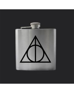 Deathly Hallows Harry Potter Inspired 6oz Hip Flask