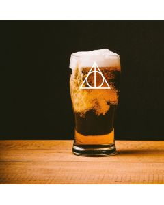 Harry Potter Inspired Deathly Hallows Pint Glass