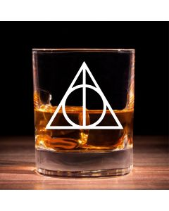 Harry Potter Inspired Deathly Hallows Whisky Glass