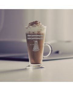 Doctor Who Inspired Decaffinate Latte Glass