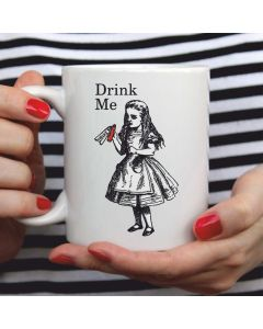 British Library Alice in Wonderland Ceramic Mug with Alice Drink Me Design