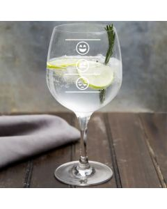 Three Stages Emojis Design Copa Gin Glass
