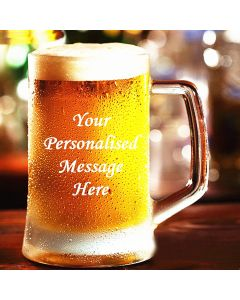 Engraved Personalised Glass Tankard