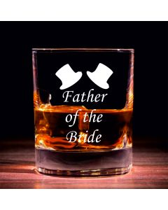 Traditional Whisky Glass With Father of the Bride Design