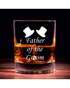 Traditional Whisky Glass With Father of the Groom Design