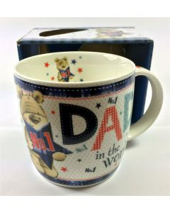 No 1 Dad in the World With Cute Bear Design in Presentation Box