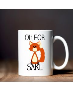 11oz Ceramic Mug With For Fox Sake Design
