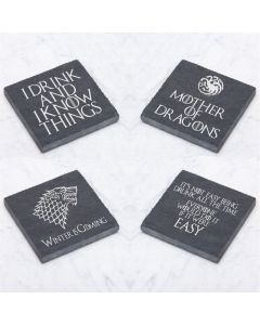 Game of Thrones Inspired Pack of 4 Slate Coasters
