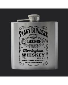 Garrison Birmingham Whisky Peaky Blinders Inspired 6oz Hip Flask