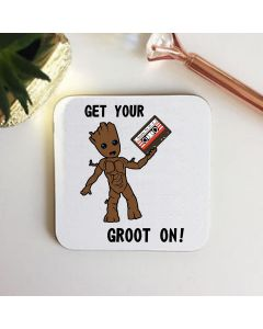 Get Your Groot On Wooden Coaster