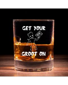 """Get Your Groot On"" Guardians of the Galaxy Inspired Whisky Glass"