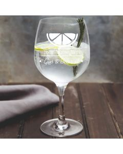 Personalised Gin & Bear It Gin Glass