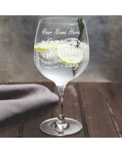 Personalised The Gindependent Lady Gin Glass