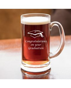 Half Pint Glass Tankard With Graduation Design