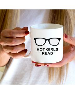 11oz Ceramic Mug With Hot Girls Read Design