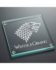 House Stark Game of Thrones Inspired Glass Coaster