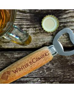 House Stark Game of Thrones Inspired Wooden Handle Bottle Opener