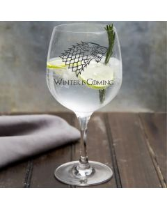 House Stark Game of Thrones Inspired Gin Glass