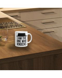 I Am The One Who Knocks Breaking Bad Inspired Ceramic Mug, White, 11oz