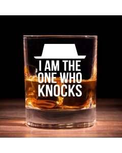 """I am the one who knocks"" Breaking Bad Inspired Whisky Glass"
