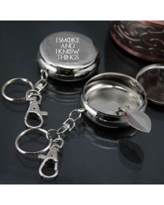 I Smoke and I Know Things Game of Thrones Inspired Keyring Ashtray