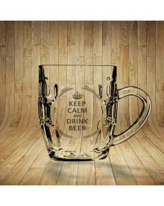 Keep Calm & Drink Beer Dimpled Beer Glass