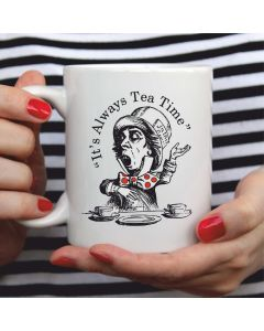British Library Alice in Wonderland Ceramic Mug with Mad Hatter Design